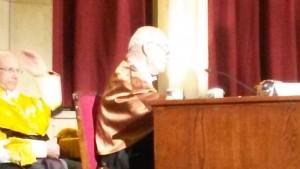 Miguel Gallo aquando da dissertação