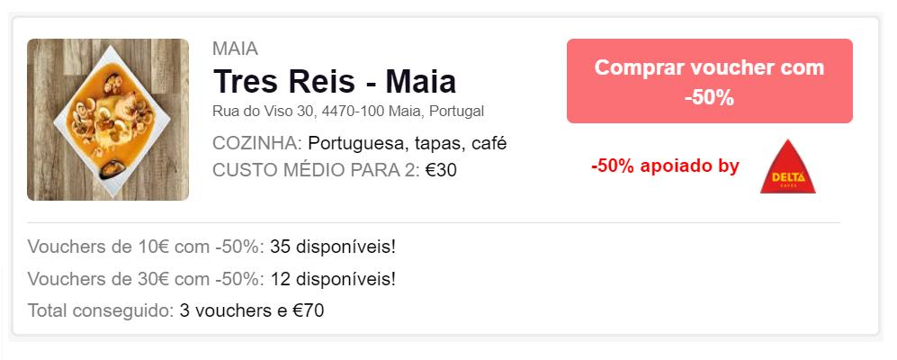Vales de apoio da Delta Cafés aos seus clientes